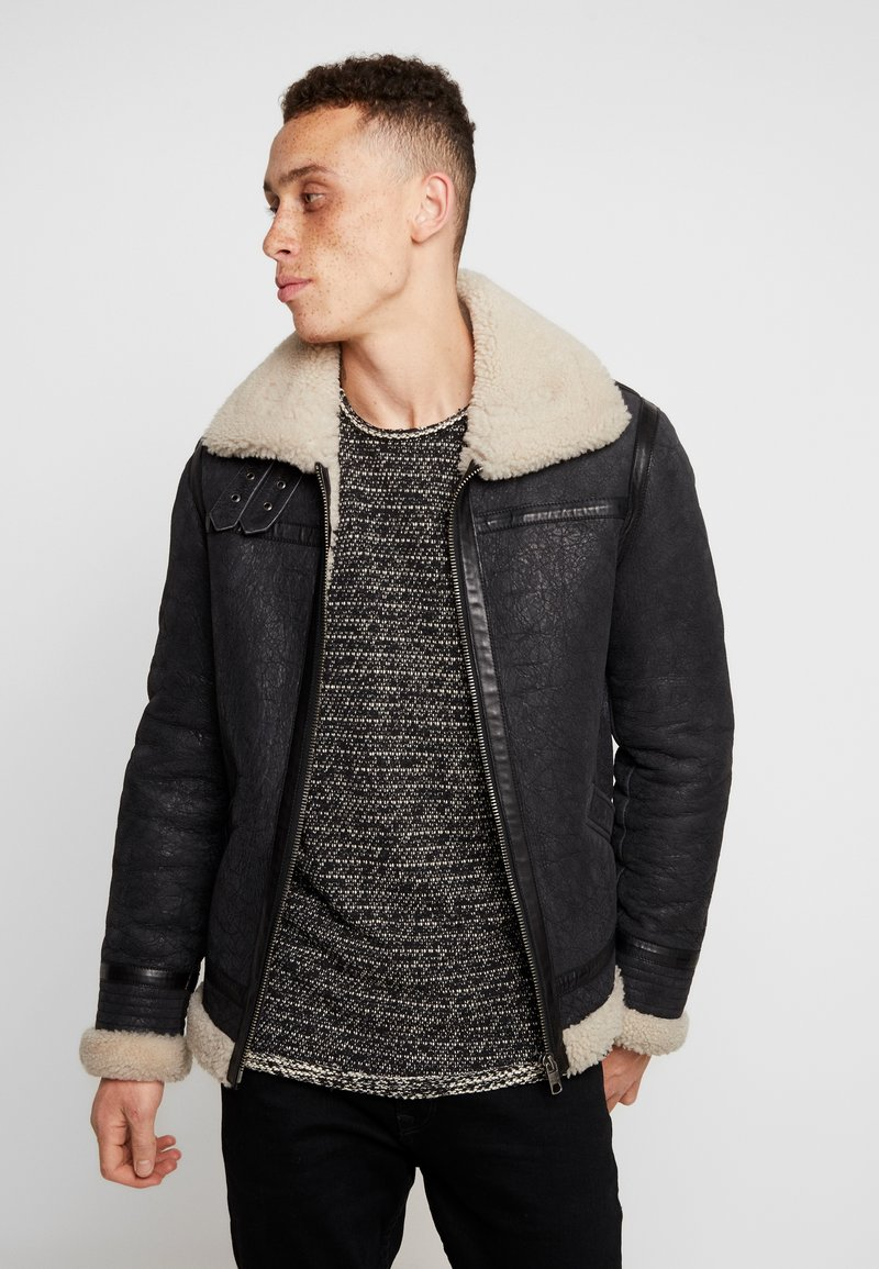 Tigha - HOMER - Leather jacket - black