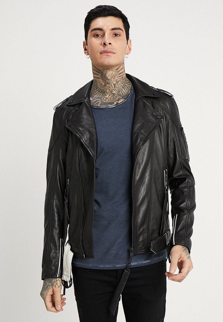 Tigha - HEYDEN - Leather jacket - black