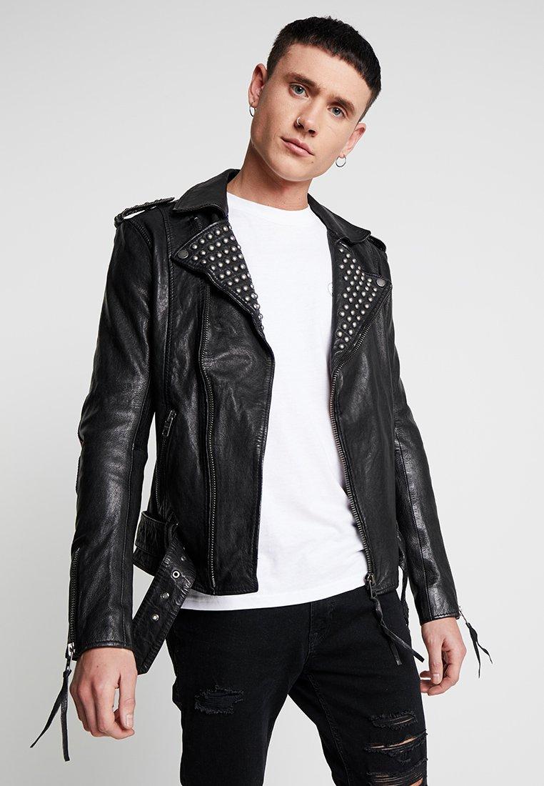 Tigha - ROYCE - Veste en cuir - black