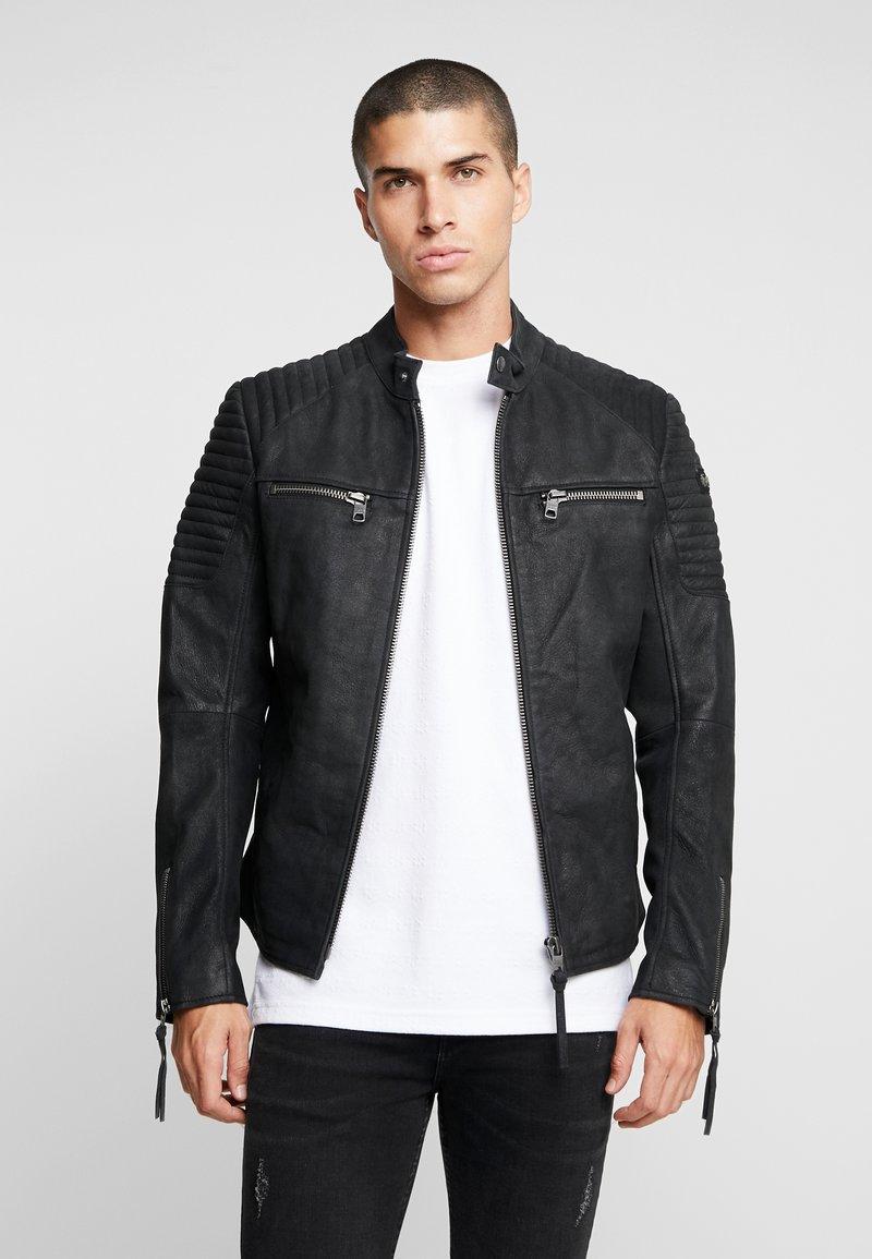 Tigha - SENEL  - Leather jacket - vintage black