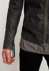 Tigha - HOLGER - Veste en cuir - black - 4