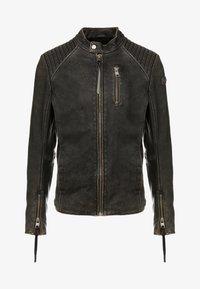 Tigha - HOLGER - Veste en cuir - black - 5