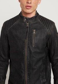 Tigha - HOLGER - Veste en cuir - black - 6
