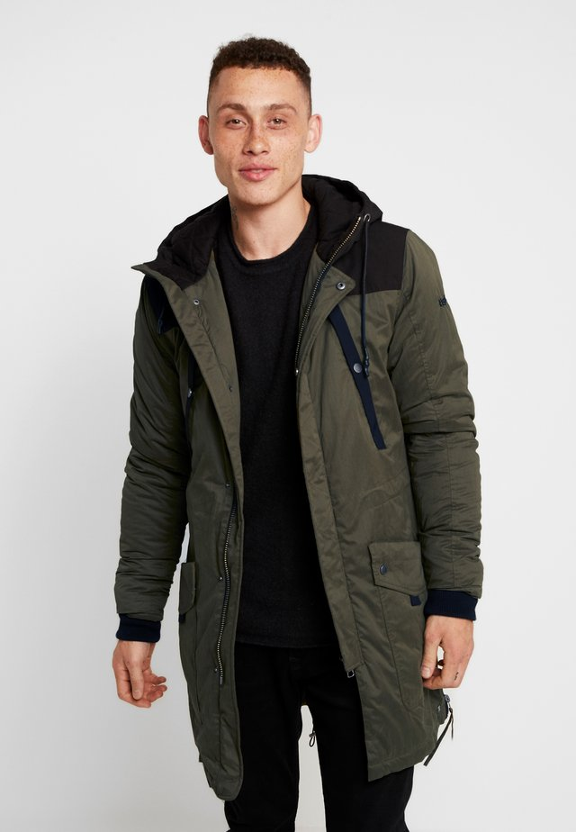 OWEN - Parka - oily green/black