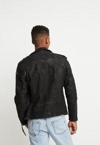 Tigha - ELON BUFFED - Leren jas - black - 2