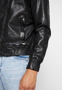 Tigha - PEER - Veste en cuir - black - 4