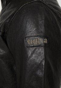Tigha - PEER - Veste en cuir - black - 6