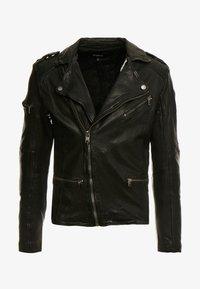 Tigha - JAMES - Veste en cuir - black - 5
