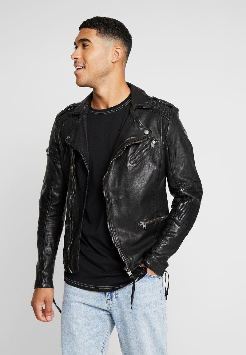 Tigha - JAMES - Veste en cuir - black