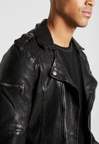 Tigha - JAMES - Veste en cuir - black - 3