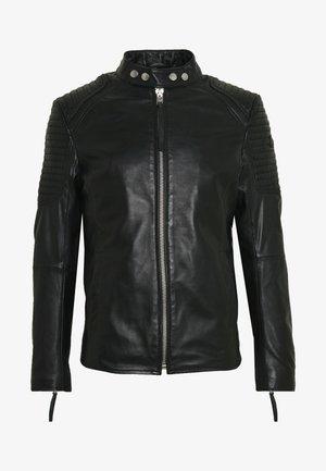 ESTEBAN - Chaqueta de cuero - black