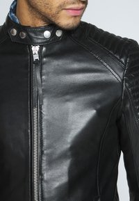 Tigha - ESTEBAN - Veste en cuir - black - 5