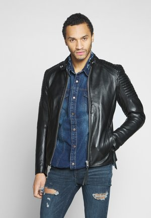 ESTEBAN - Leather jacket - black