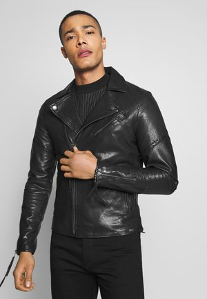 GIDEON - Leather jacket - black