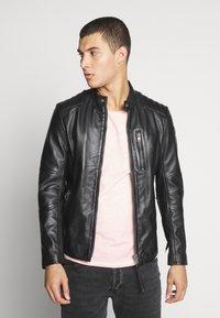 Tigha - SAMI - Leather jacket - black - 0