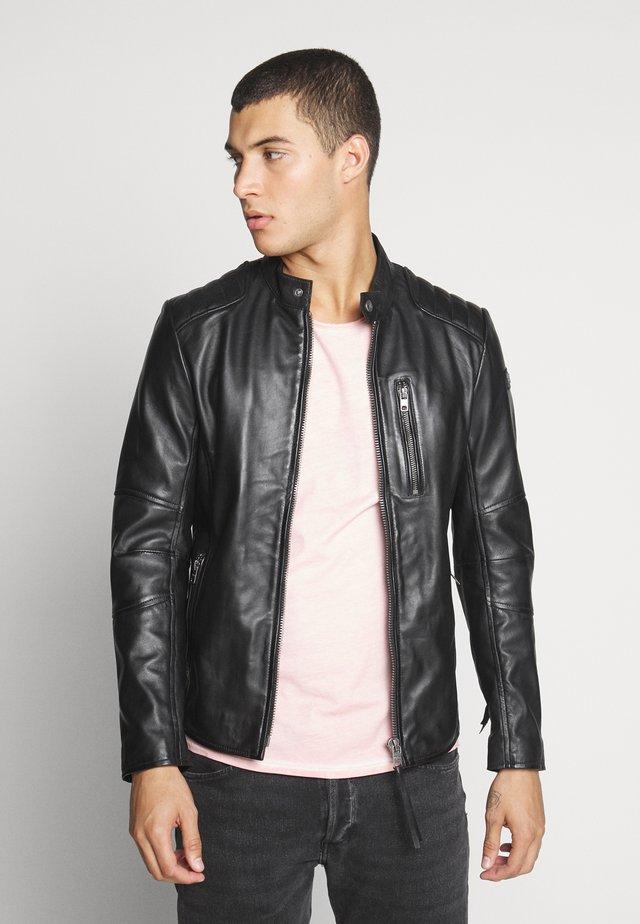 SAMI - Leather jacket - black