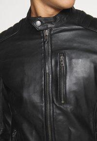 Tigha - SAMI - Leather jacket - black - 5