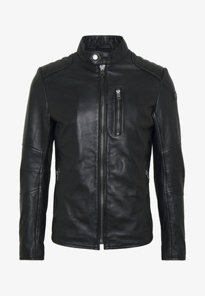 SAMI - Leather jacket - black