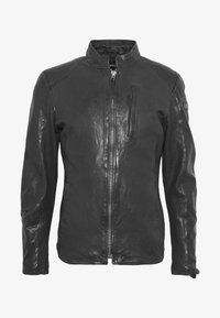 Tigha - WESNEY - Chaqueta de cuero - black