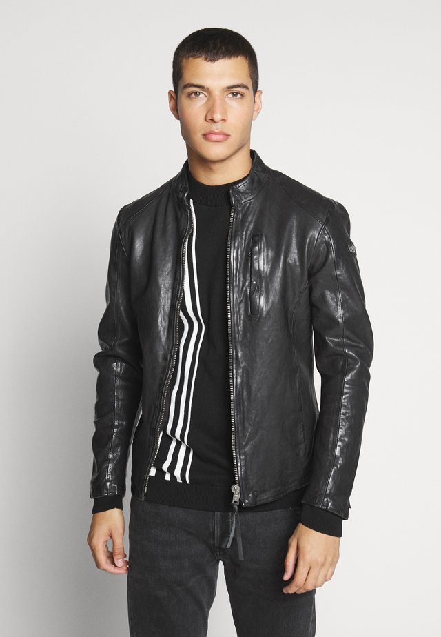 WESNEY - Leather jacket - black