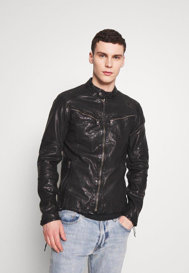 FRIED - Kožená bunda - black