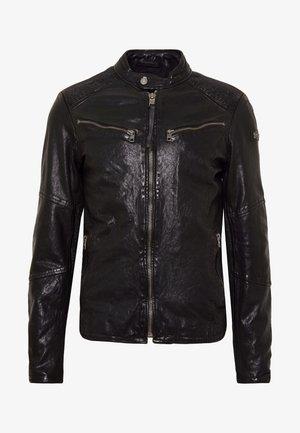 FRIED - Veste en cuir - black