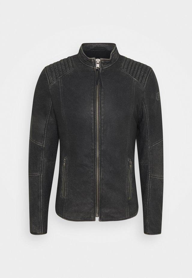 TOMAS STONE - Kožená bunda - vintage black