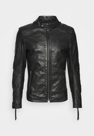DENZEL - Leren jas - black