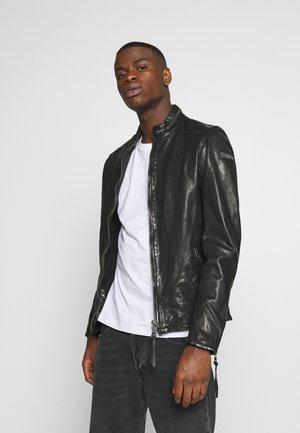 DEACON - Kožená bunda - black