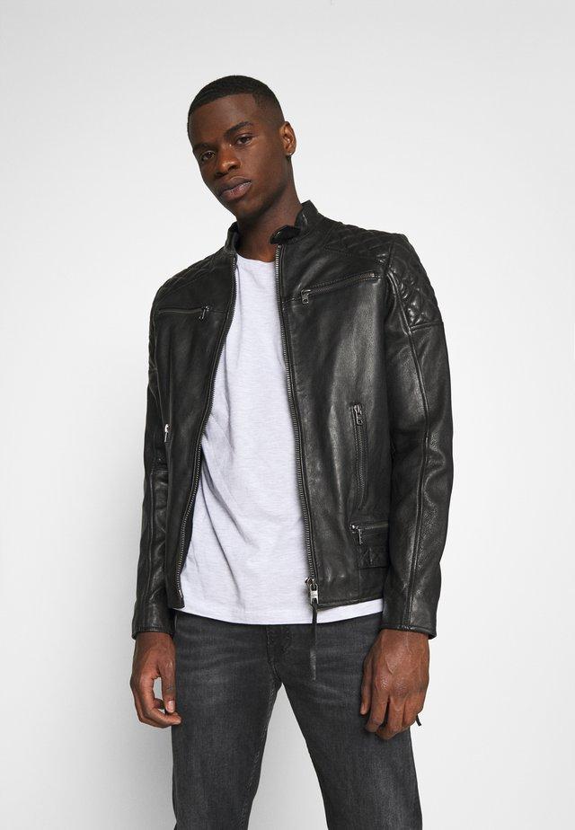 BRADY - Leather jacket - black