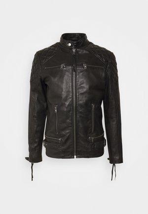 BRADY - Kožená bunda - black