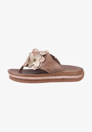 Slippers - taupe/kombi
