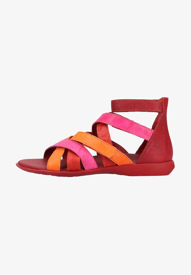 Sandalen met enkelbandjes - red
