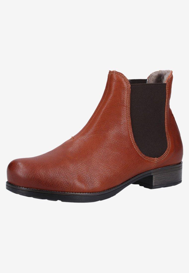 Think! Boots à talons cognac