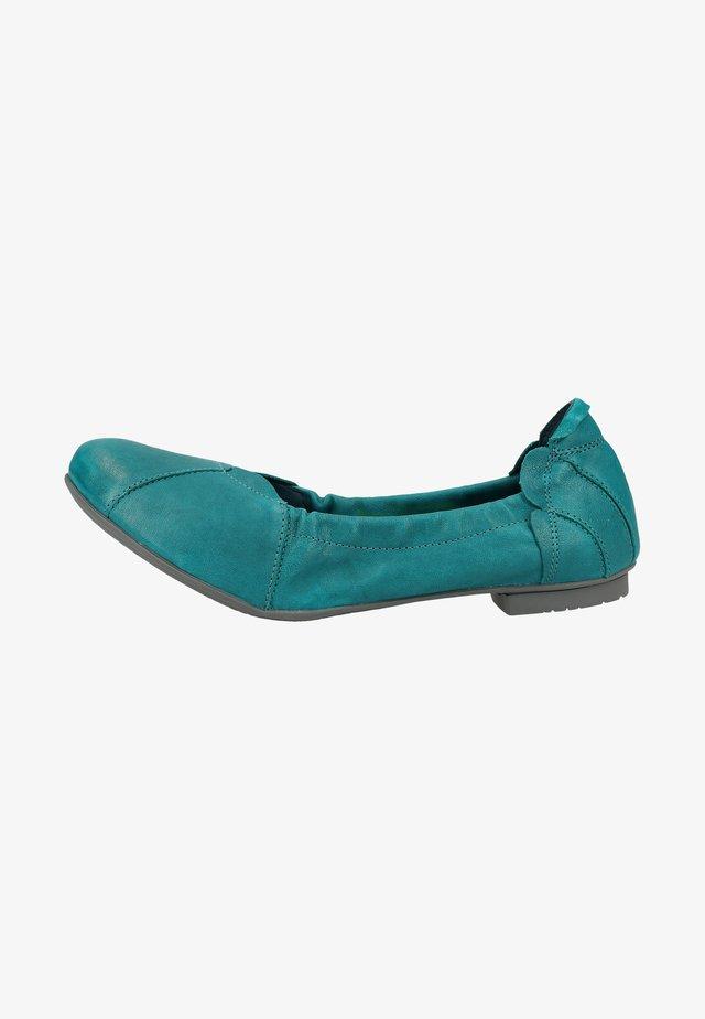 Foldable ballet pumps - turquoise