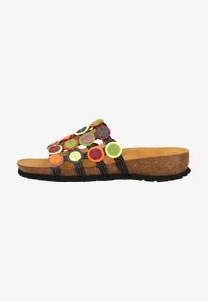 Pantolette flach - brown