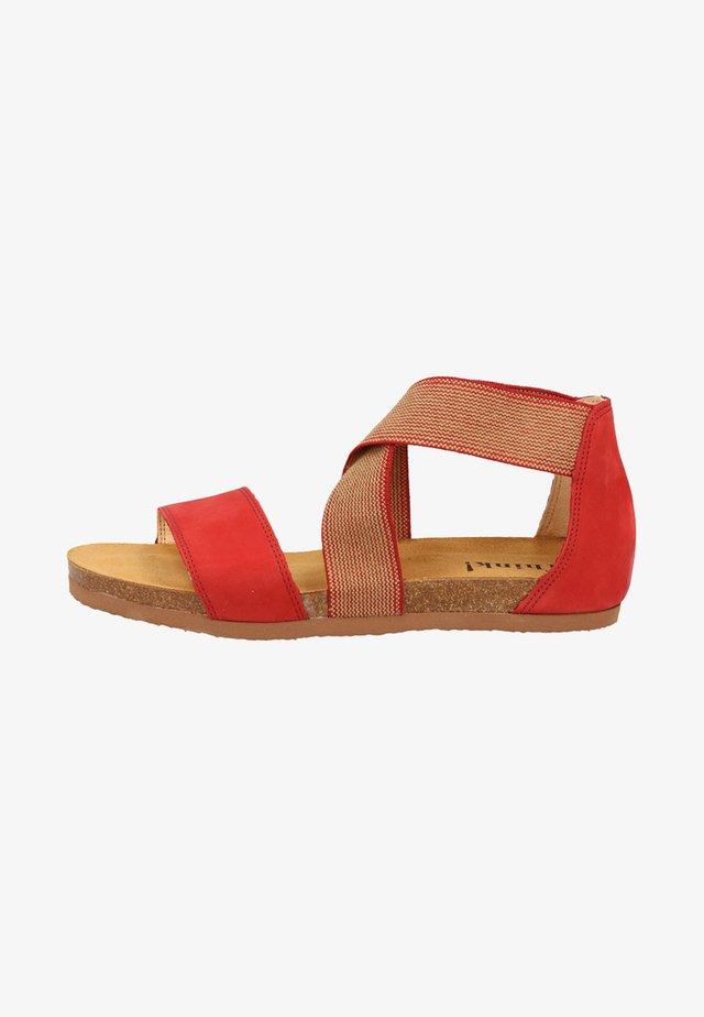 Walking sandals - fire/kombi