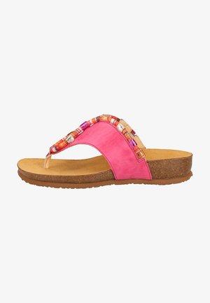 Sandaler m/ tåsplit - fuchsia