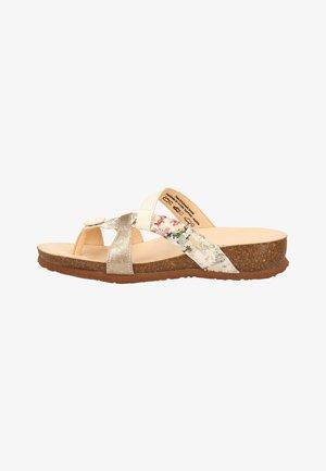 Sandaler m/ tåsplit - beige