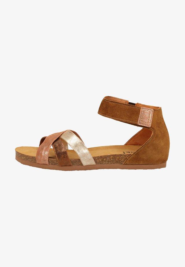 Ankle cuff sandals - oak/kombi