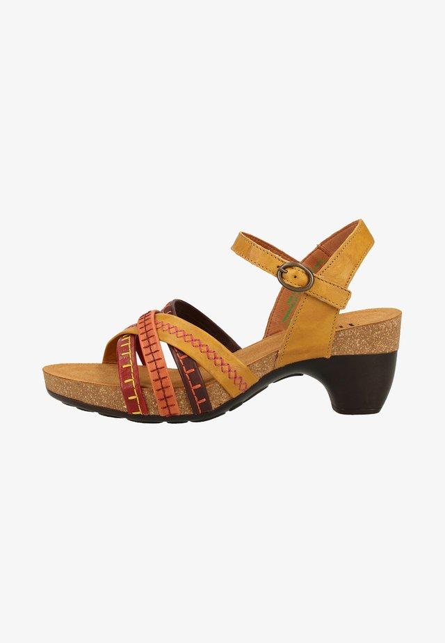 Walking sandals - turmeric