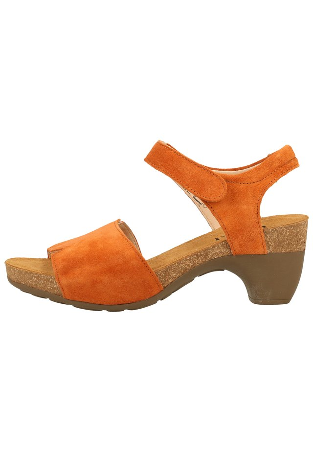 THINK! SANDALEN - Plateausandaler - orange 48
