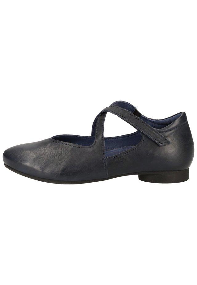 THINK! BALLERINAS - Ankle strap ballet pumps - navy 87