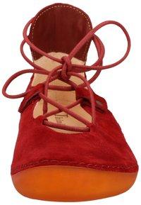Think! - Ballerinasko m/ skaft - red - 5