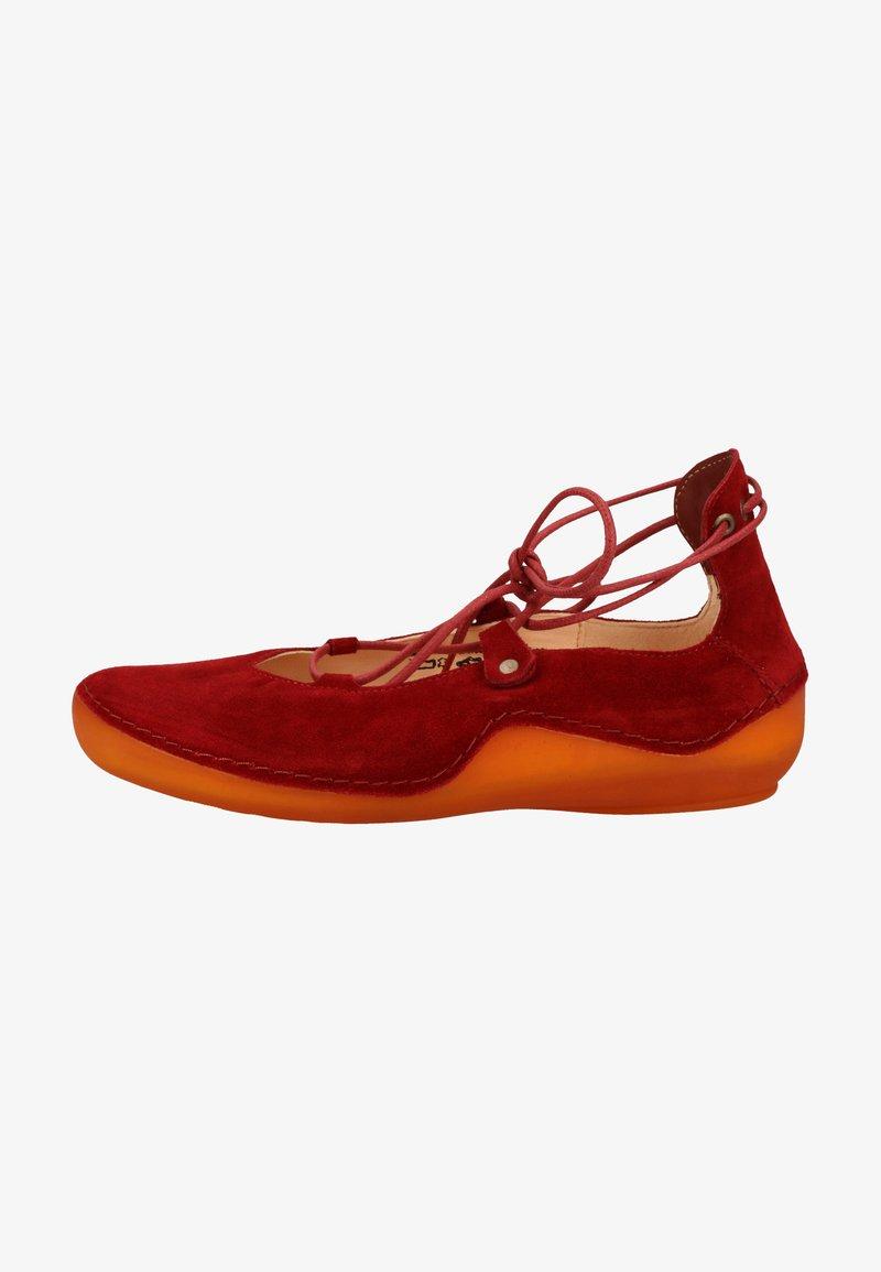 Think! - Ballerinasko m/ skaft - red