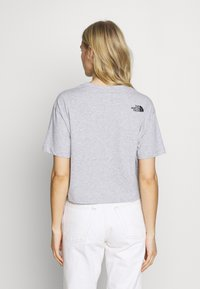 The North Face - CROPPED FINE TEE - T-shirts med print - light grey - 2