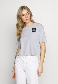 The North Face - CROPPED FINE TEE - T-shirts med print - light grey - 0