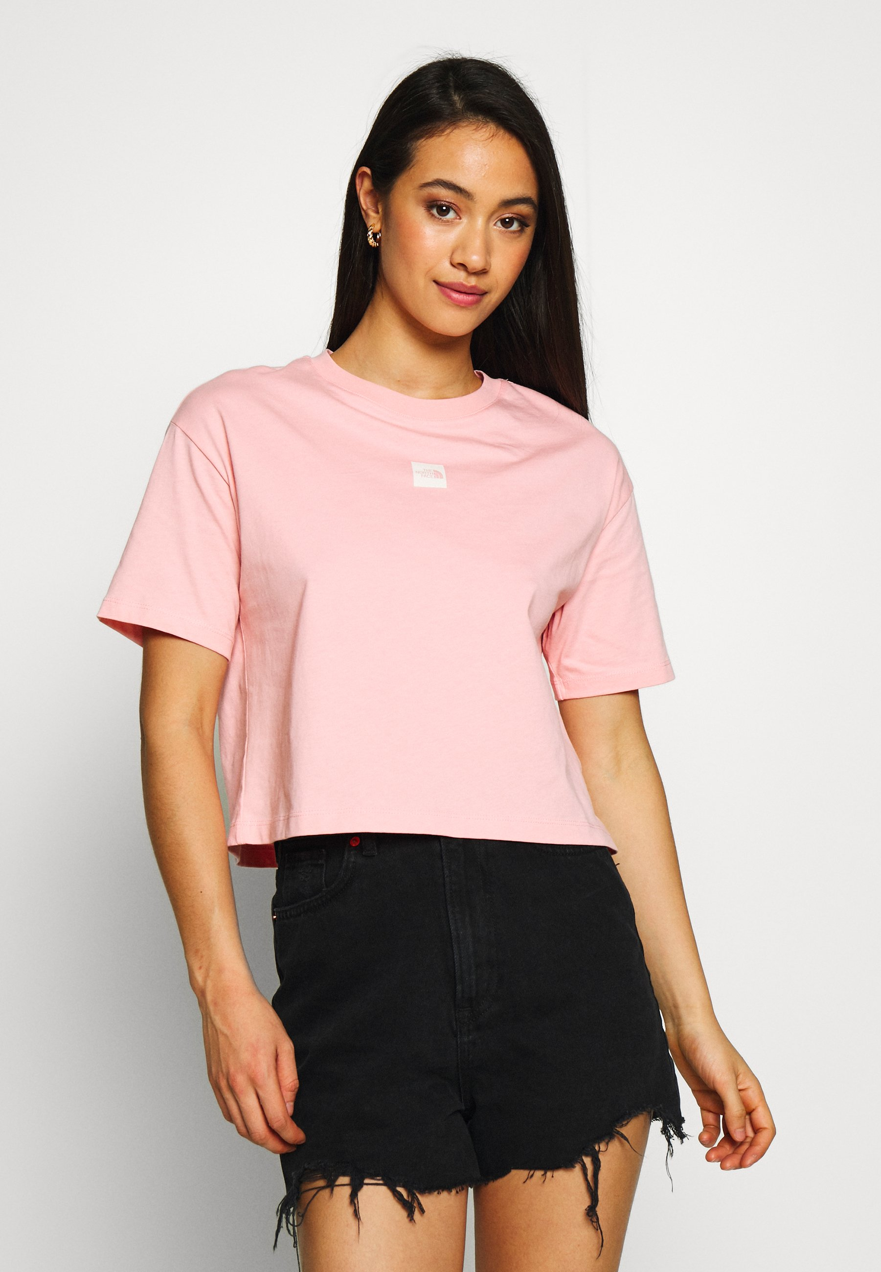 The North Face CENTRAL LOGO CROP TEE - T-shirts med print - ballet pink/vintage white