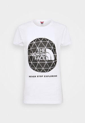 GEODOME TEE - T-shirts med print - white