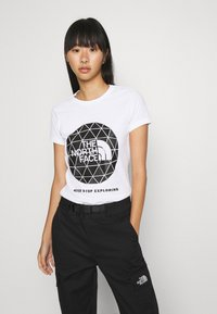 The North Face - GEODOME TEE - T-shirts med print - white - 0